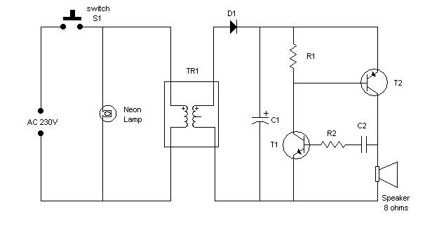 electronic relay circuit diagram electronic bell circuit diagram #7